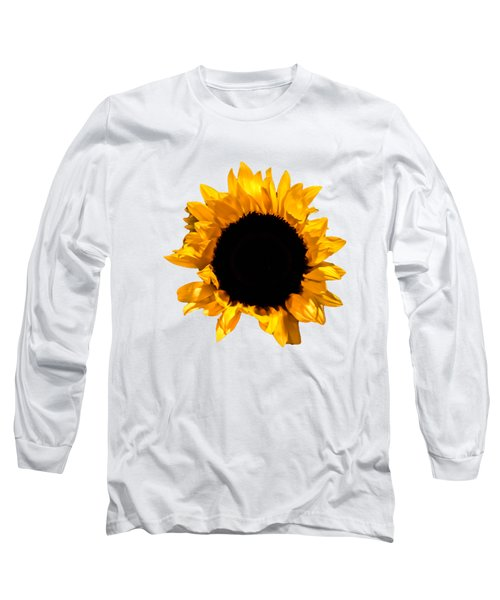 Sunflower Stretching On Brown Long Sleeve T-Shirt