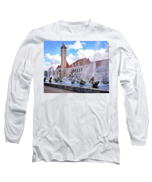 Union Station - St Louis Long Sleeve T-Shirt by Harold Rau