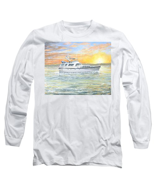 Long Sleeve T-Shirt featuring the painting Untitled by Bob George