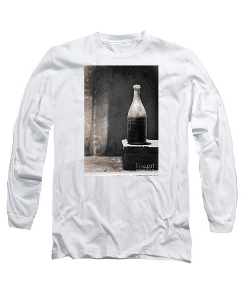 Vintage Beer Bottle Long Sleeve T-Shirt by Andrey  Godyaykin