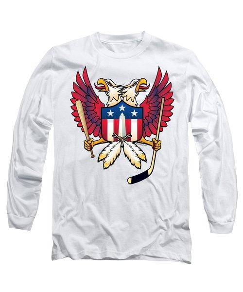 Washington Dc Double Eagle Sports Fan Crest Long Sleeve T-Shirt