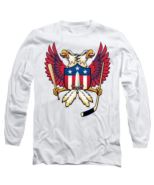 Washington Dc Double Eagle Sports Fan Crest Long Sleeve T-Shirt