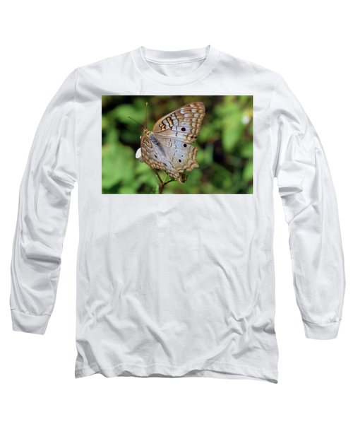 White Peacock Butterfly Long Sleeve T-Shirt