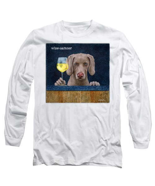 Wine-maraner Long Sleeve T-Shirt by Will Bullas