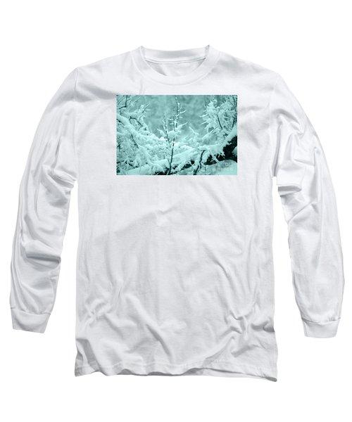 Long Sleeve T-Shirt featuring the photograph Winter Wonderland In Switzerland by Susanne Van Hulst