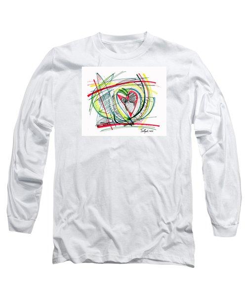 2010 Abstract Drawing Eighteen Long Sleeve T-Shirt by Lynne Taetzsch