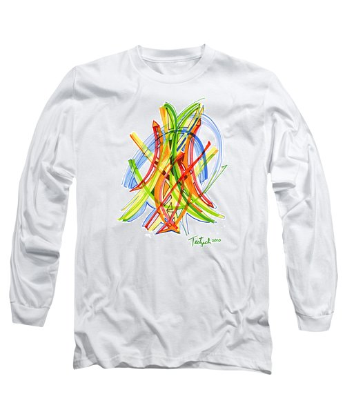 2010 Abstract Drawing Seven Long Sleeve T-Shirt by Lynne Taetzsch