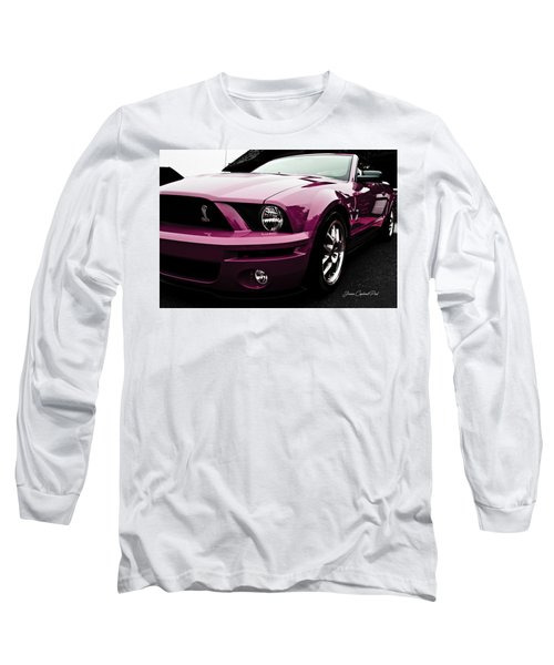 Long Sleeve T-Shirt featuring the photograph 2010 Pink Ford Cobra Mustang Gt 500 by Joann Copeland-Paul