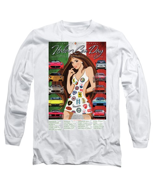2012 Atlanta Italian Car Day Poster Long Sleeve T-Shirt