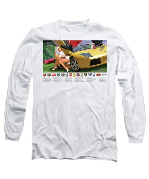 2014 Atlanta Italian Car Day Poster Long Sleeve T-Shirt