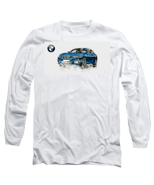 2014 B M W 2 Series Coupe With 3d Badge Long Sleeve T-Shirt by Serge Averbukh