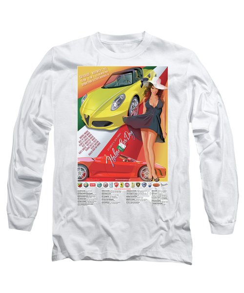 2015 Atlanta Italian Car Day Poster Long Sleeve T-Shirt