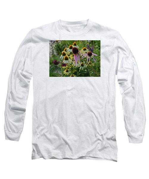 2015 Summer At The Garden Coneflowers Long Sleeve T-Shirt