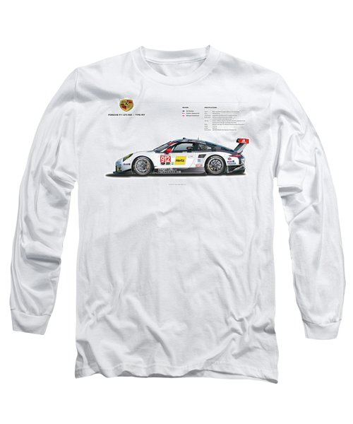 2016 911gt3r Rsr Poster Long Sleeve T-Shirt