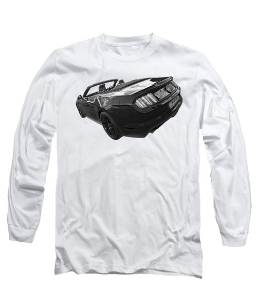 2016 Rhd Mustang Gt In Black And White Long Sleeve T-Shirt