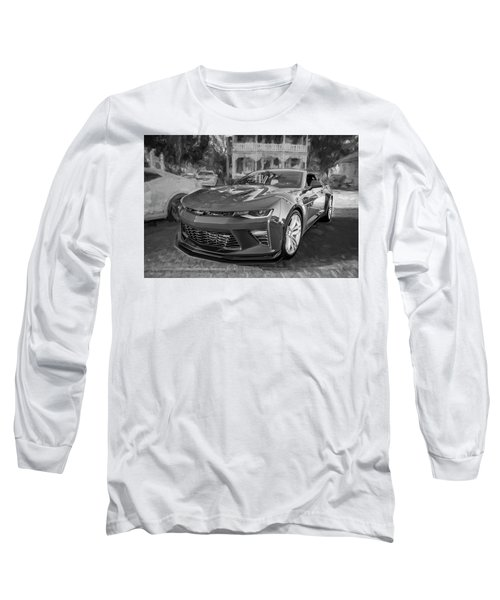 Long Sleeve T-Shirt featuring the photograph 2017 Chevrolet Camaro Ss2 Bw by Rich Franco