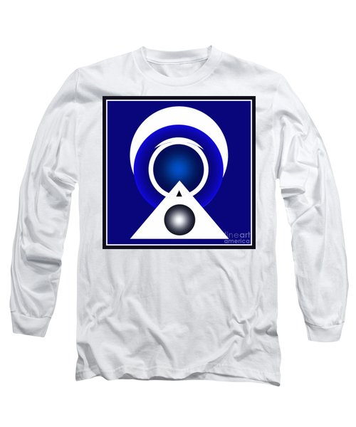 Long Sleeve T-Shirt featuring the digital art 2018 Blue by John Krakora