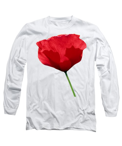 Poppy Flower Long Sleeve T-Shirt