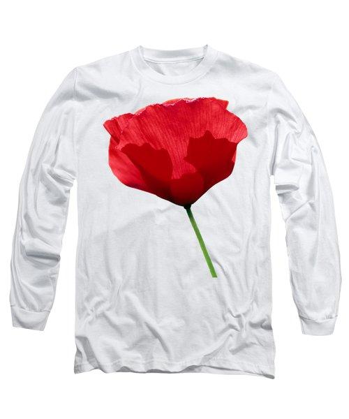 Poppy Flower Long Sleeve T-Shirt