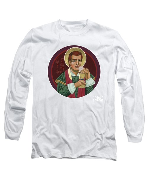 Long Sleeve T-Shirt featuring the painting 297 Holy Martyr Blessed William Hart -1583 by William Hart McNichols