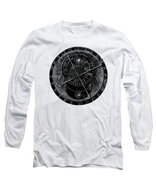 Astronomical Clock Long Sleeve T-Shirt by Michal Boubin