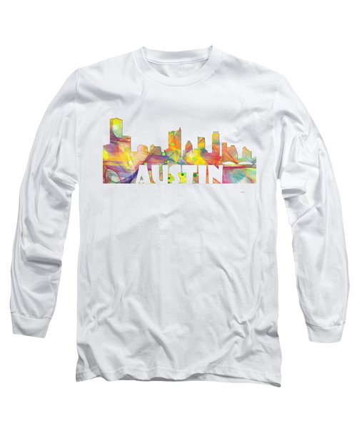 Austin Texas Skyline Long Sleeve T-Shirt