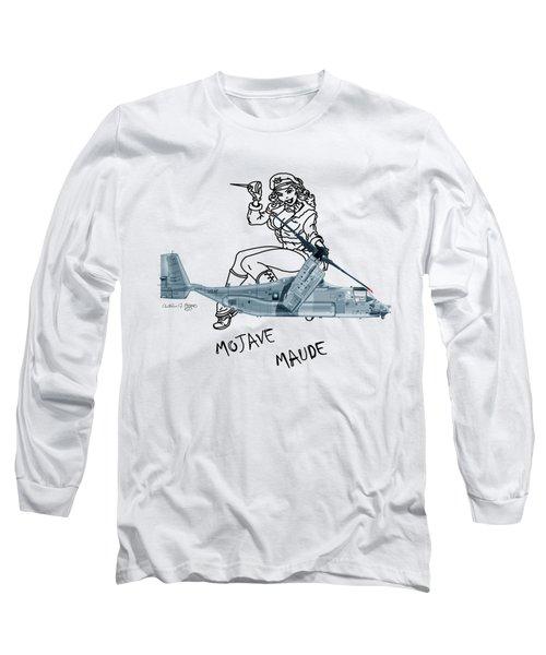 Long Sleeve T-Shirt featuring the digital art Bell Boeing Cv-22b Osprey Mojave Maude by Arthur Eggers