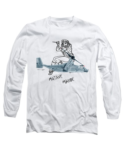 Bell Boeing Cv-22b Osprey Mojave Maude Long Sleeve T-Shirt