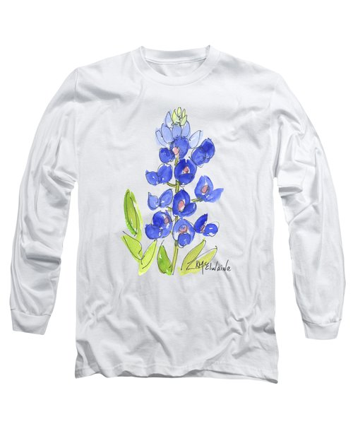 Bluebonnet Long Sleeve T-Shirt by Kathleen McElwaine