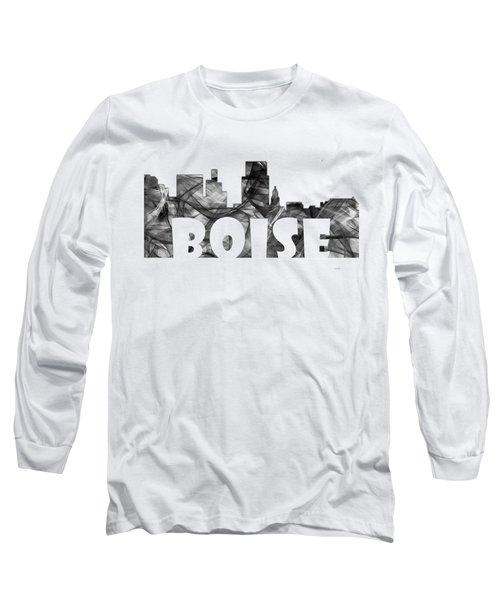 Boise Idaho Skyline Long Sleeve T-Shirt by Marlene Watson