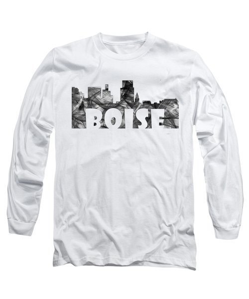 Boise Idaho Skyline Long Sleeve T-Shirt
