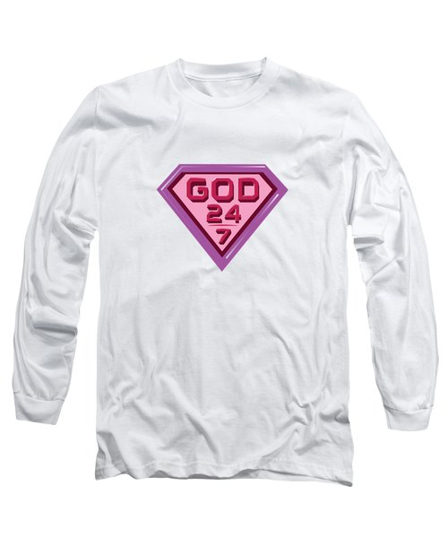 3 D Pink/purple Long Sleeve T-Shirt by Roshanda Prior