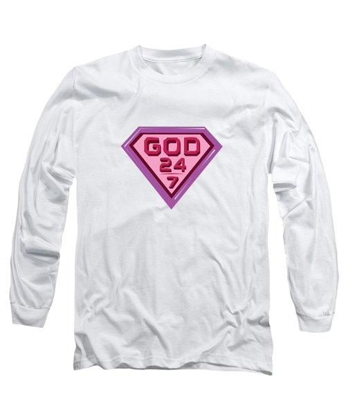 3 D Pink/purple Long Sleeve T-Shirt
