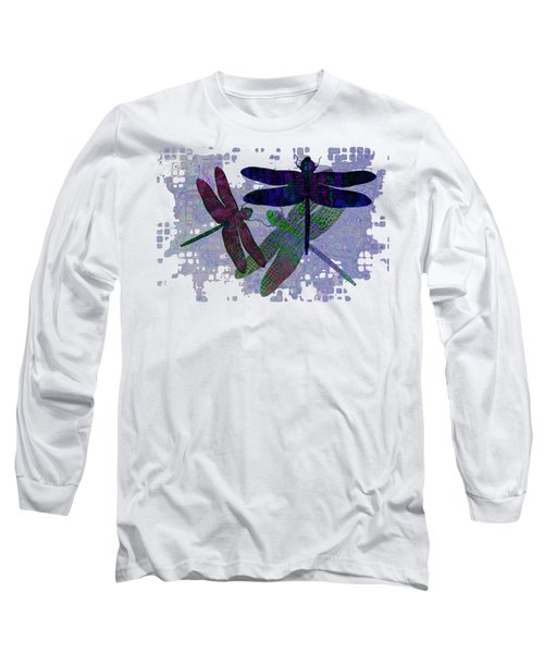 3 Dragonfly Long Sleeve T-Shirt by Jack Zulli