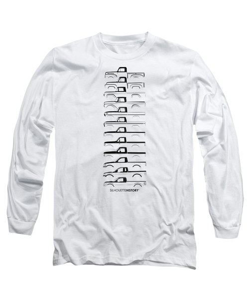 Ford F-series Silhouettehistory Long Sleeve T-Shirt by Balazs Iker