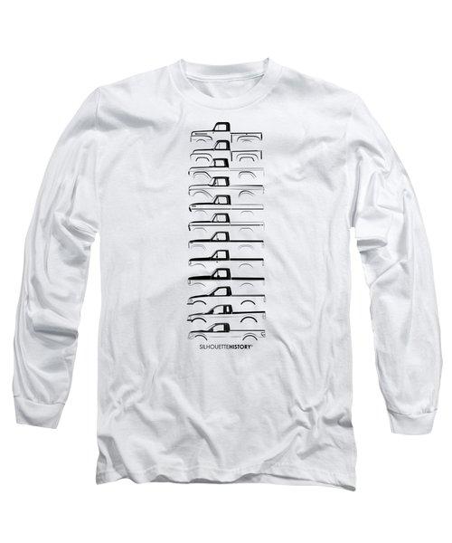 American Pickup Silhouettehistory Black Long Sleeve T-Shirt