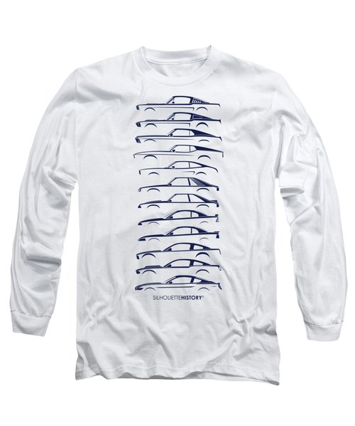 American Stallion Silhouettehistory Blue Long Sleeve T-Shirt