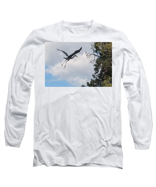 Great Blue Heron Long Sleeve T-Shirt by Keith Boone