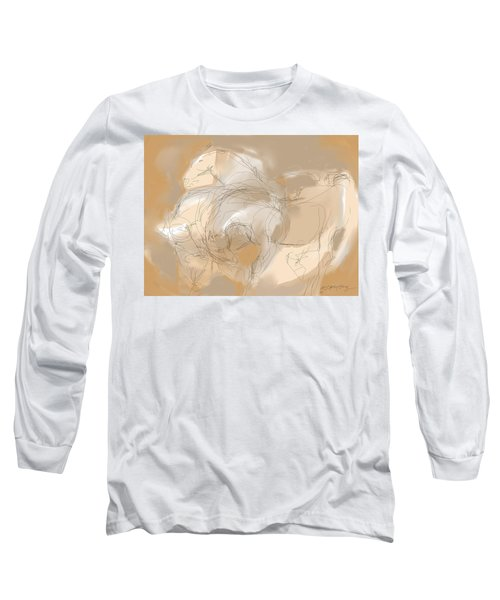 3 Horses Long Sleeve T-Shirt by Mary Armstrong