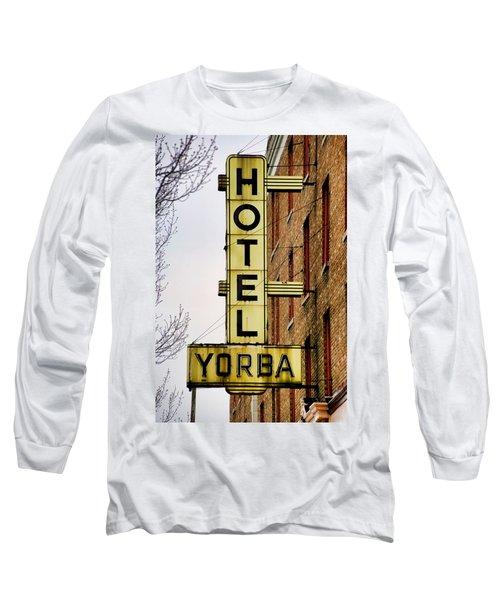 Hotel Yorba Long Sleeve T-Shirt by Gordon Dean II