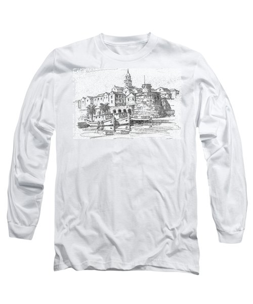 Long Sleeve T-Shirt featuring the photograph Korcula Croatia by Joseph Hendrix