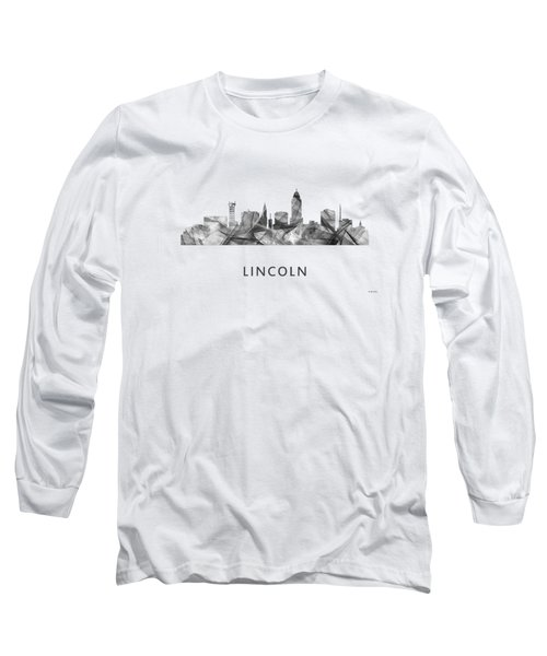 Lincoln Nebraska Skyline Long Sleeve T-Shirt