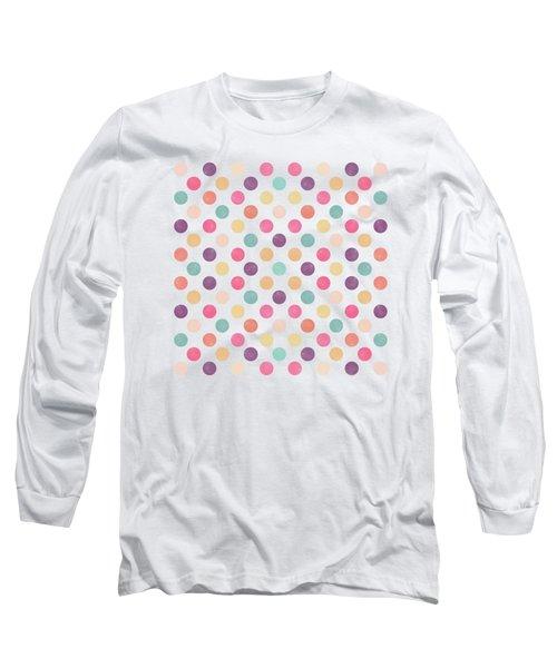 Lovely Polka Dots  Long Sleeve T-Shirt by Amir Faysal