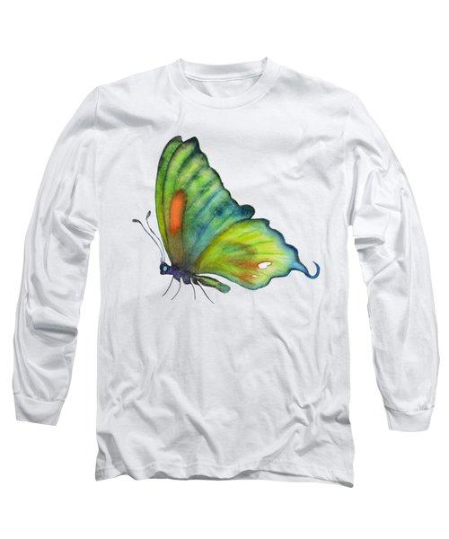 3 Perched Orange Spot Butterfly Long Sleeve T-Shirt