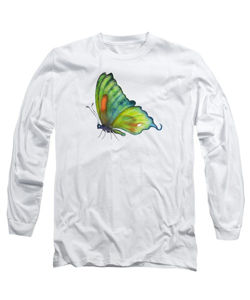 3 Perched Orange Spot Butterfly Long Sleeve T-Shirt