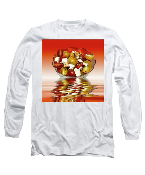 Plum Cherry Tomatoes Long Sleeve T-Shirt by David French