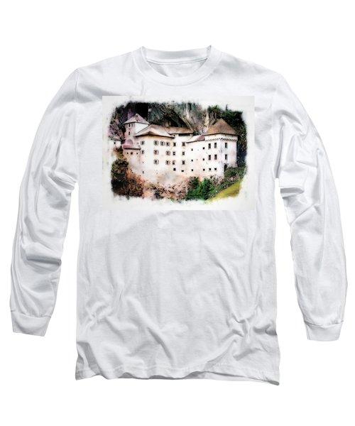 Long Sleeve T-Shirt featuring the photograph Predjama Castle, Predjama Slovenia by Joseph Hendrix