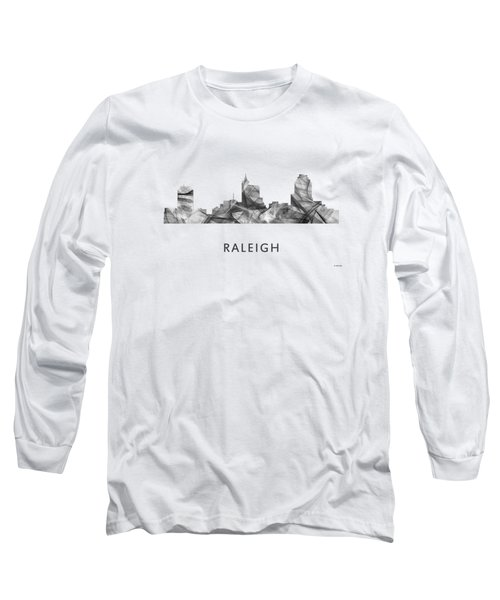 Raleigh North Carolina Skyline Long Sleeve T-Shirt by Marlene Watson