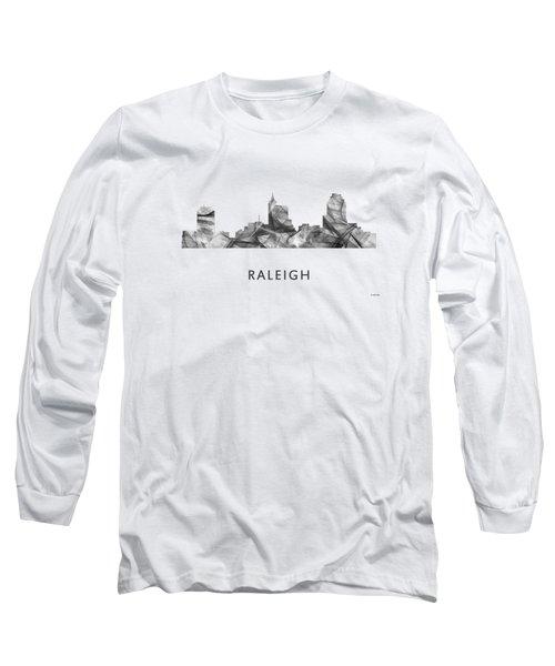 Raleigh North Carolina Skyline Long Sleeve T-Shirt