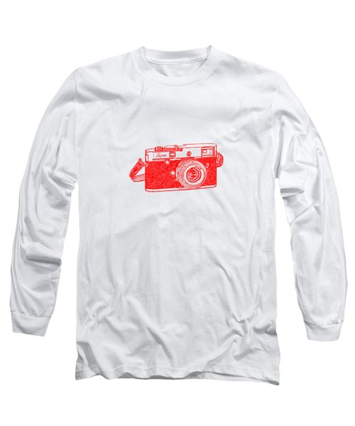 Long Sleeve T-Shirt featuring the drawing Rangefinder Camera by Setsiri Silapasuwanchai